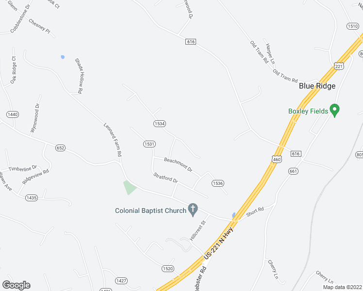 map of restaurants, bars, coffee shops, grocery stores, and more near 151 Scalybark Drive in Blue Ridge