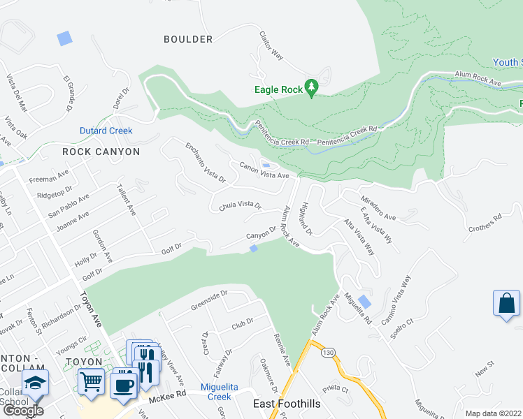 map of restaurants, bars, coffee shops, grocery stores, and more near 472 Chula Vista Dr in San Jose