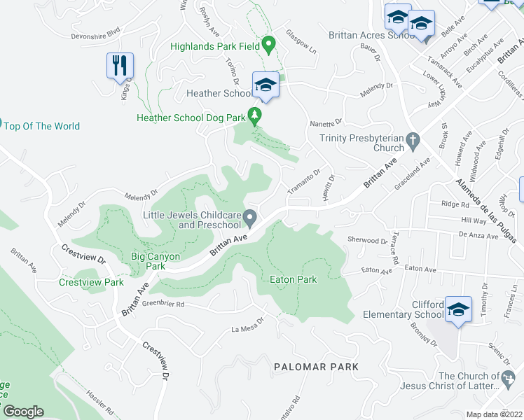 map of restaurants, bars, coffee shops, grocery stores, and more near 1092 Porto Marino Drive in San Carlos