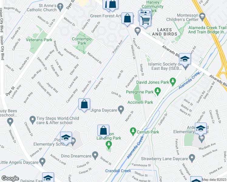 Orick California Map.32753 Orick Street Union City Ca Walk Score