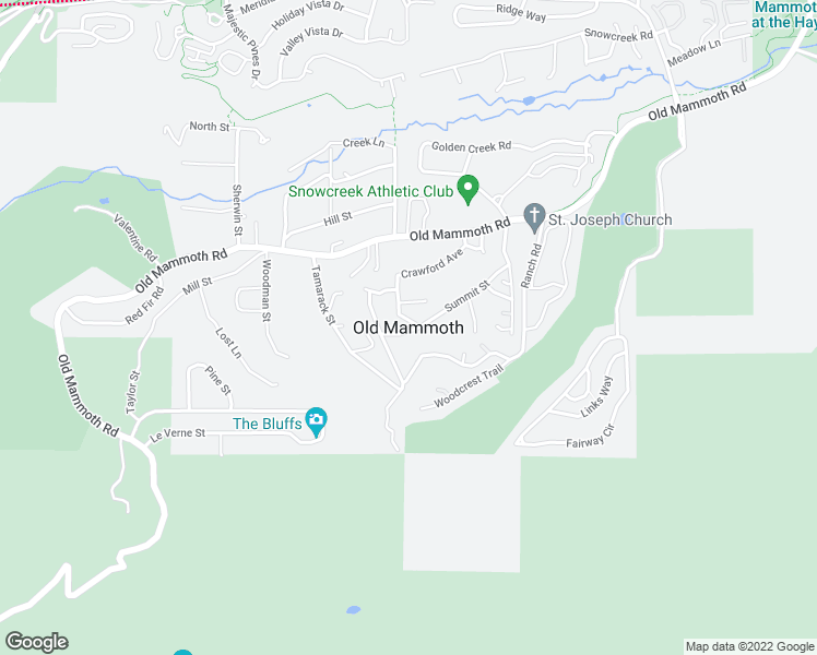 map of restaurants, bars, coffee shops, grocery stores, and more near in Mammoth Lakes