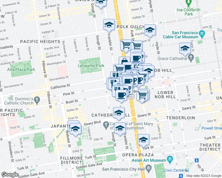 Little Saigon California Map.1755 Pine Street San Francisco Ca Walk Score