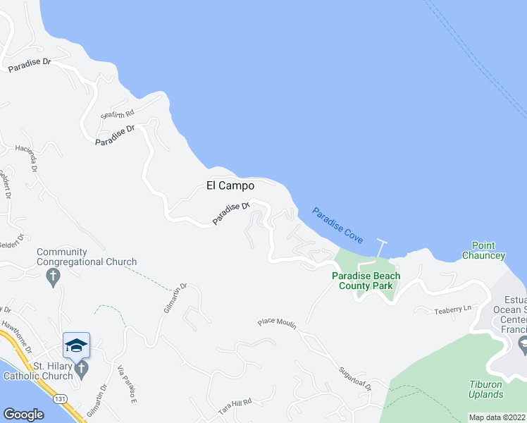 map of restaurants, bars, coffee shops, grocery stores, and more near 8 Norman Way in Tiburon