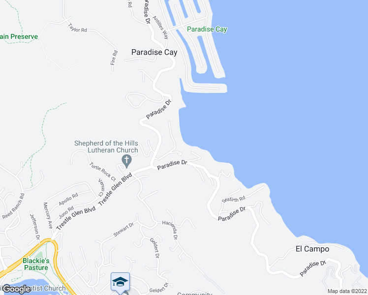 map of restaurants, bars, coffee shops, grocery stores, and more near 16 Old Landing Road in Belvedere Tiburon