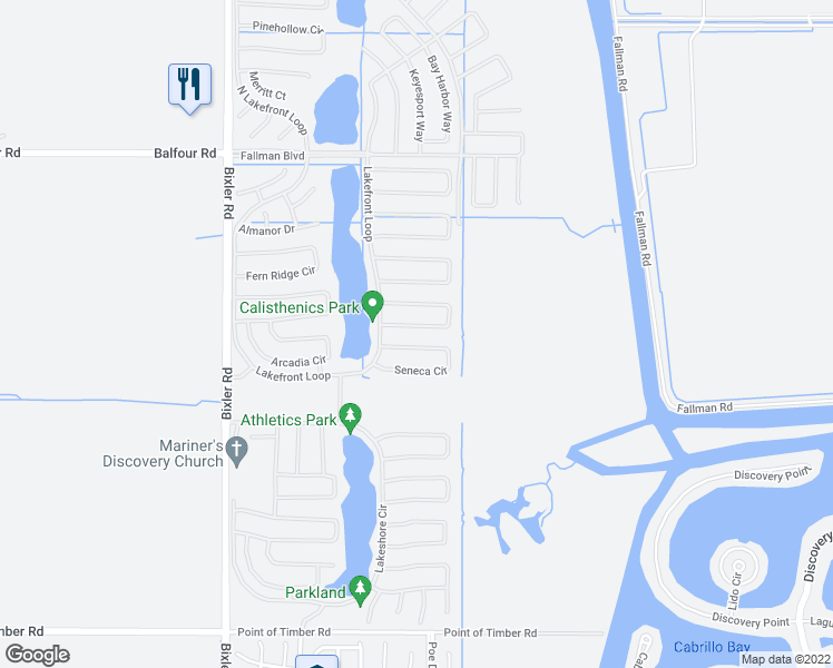 map of restaurants, bars, coffee shops, grocery stores, and more near 6238 Crystal Springs Circle in Discovery Bay