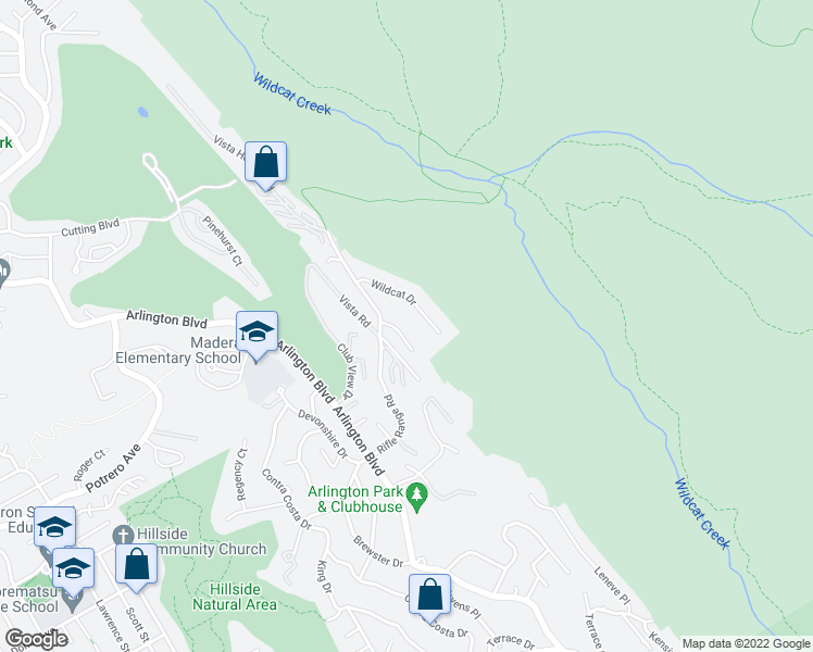 map of restaurants, bars, coffee shops, grocery stores, and more near 8414 Bel View Court in El Cerrito