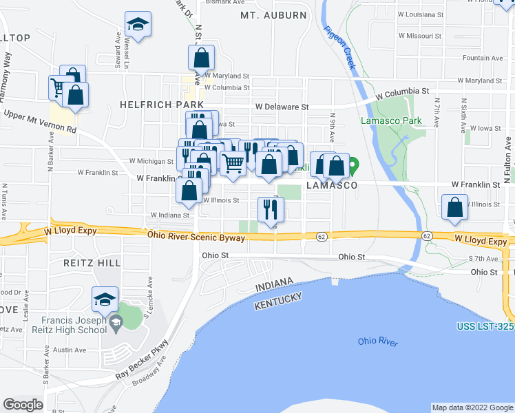 Fca Group 2017 North American Map For Uconnect 730n Rhr.Evansville Illinois Map