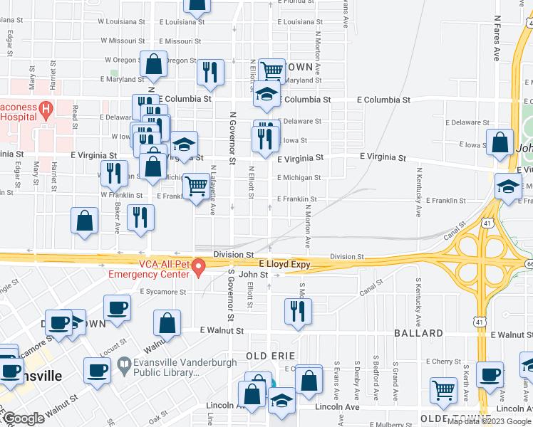 Evansville Illinois Map.518 East Illinois Street Evansville In Walk Score