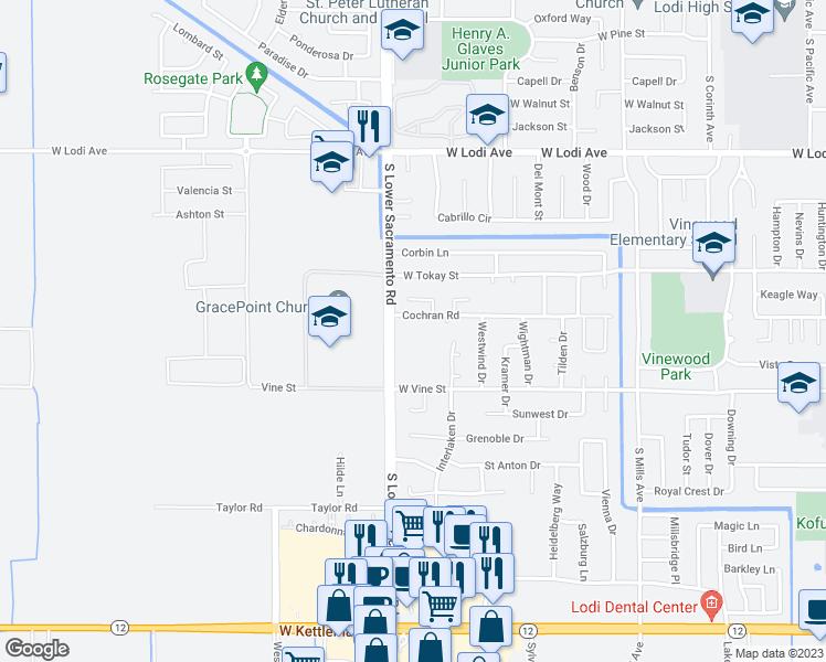 Map Of Restaurants Bars Coffee S Grocery Ore Near 2440