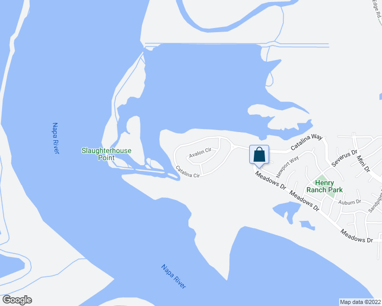 map of restaurants, bars, coffee shops, grocery stores, and more near 419 Avalon Circle in Vallejo