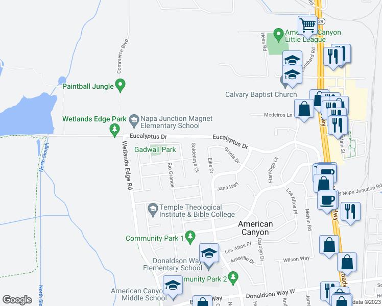 Map Of Restaurants Bars Coffee S Grocery Ore Near 35