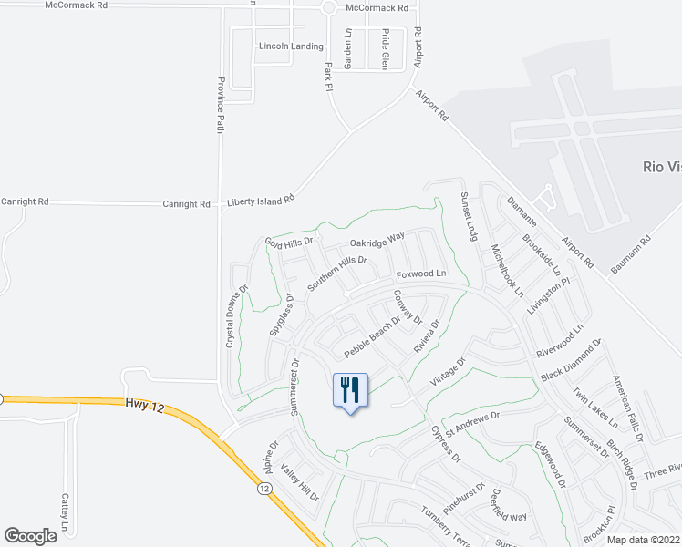 map of restaurants, bars, coffee shops, grocery stores, and more near 280 Atlantic Drive in Rio Vista