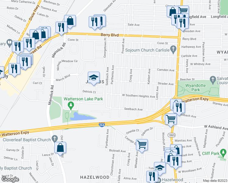 Hazelwood Food Market Map