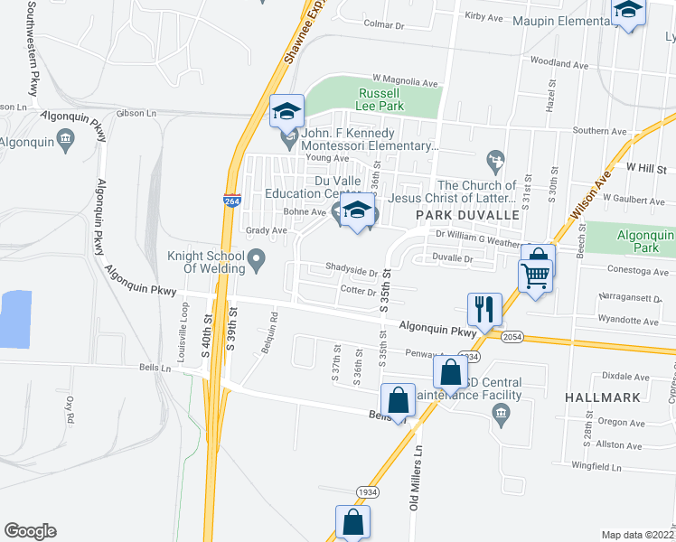 3530 Shadyside Drive, Louisville-Jefferson KY - Walk Score on map of kerr park, map of ohio park, map of york township park, map of franklin park, map of shiloh park, map of gahanna park, map of friendship park, map of garfield park, map of colerain park, map of morningside park, map of walnut park, map of wadsworth park, map of green springs park, map of chestnut ridge park,