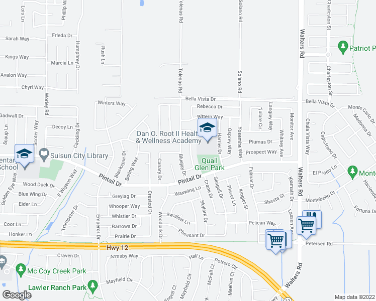 map of restaurants, bars, coffee shops, grocery stores, and more near 820 Heron Drive in Suisun City