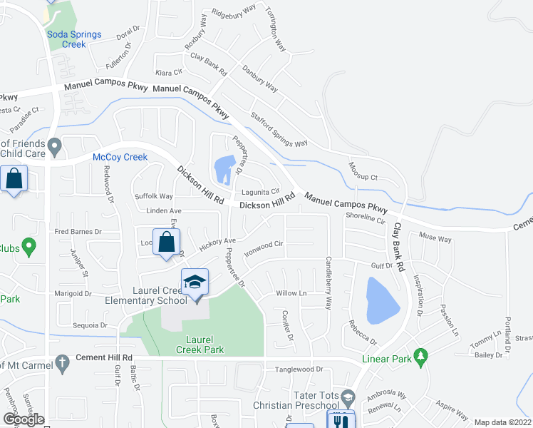 map of restaurants, bars, coffee shops, grocery stores, and more near 3026 Teak Court in Fairfield