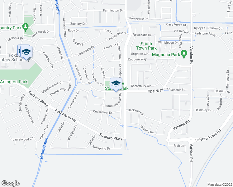 map of restaurants, bars, coffee shops, grocery stores, and more near 1031 Opal Drive in Vacaville
