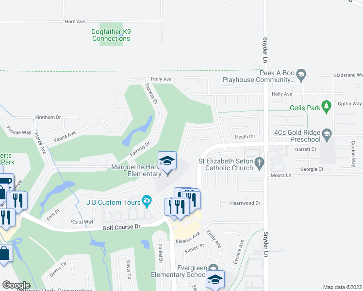 map of restaurants, bars, coffee shops, grocery stores, and more near 878 Hudis Street in Rohnert Park