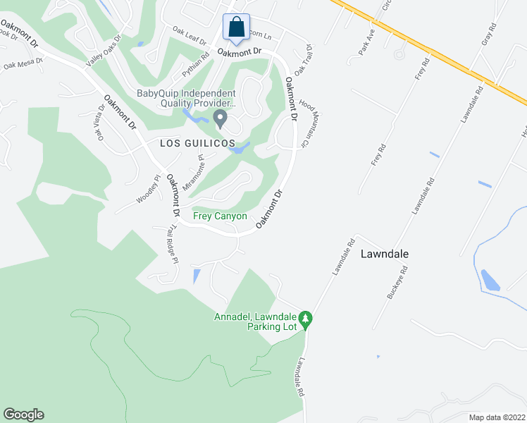 map of restaurants, bars, coffee shops, grocery stores, and more near 8395 Oakmont Drive in Santa Rosa