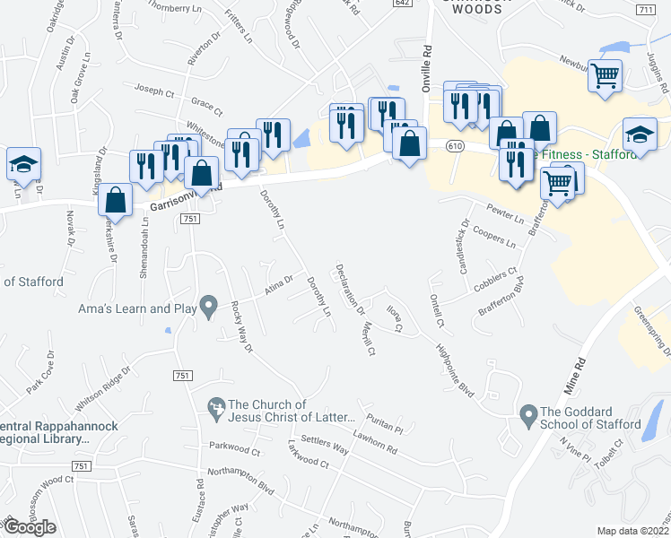 Minuteman Circle, Stafford VA - Walk Score on map of frederick md area, map of virginia, map of washington dc area, map of stafford texas area, map of stafford uk area,