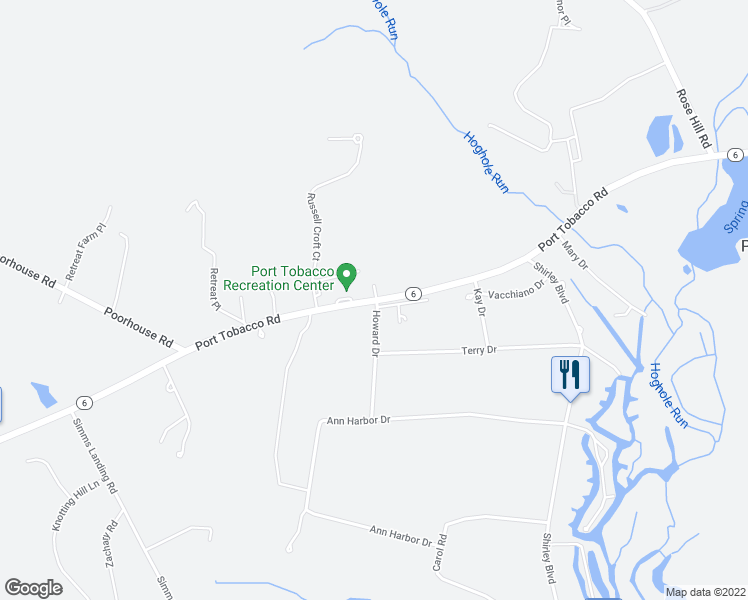 map of restaurants, bars, coffee shops, grocery stores, and more near 8190 Port Tobacco Road in Port Tobacco
