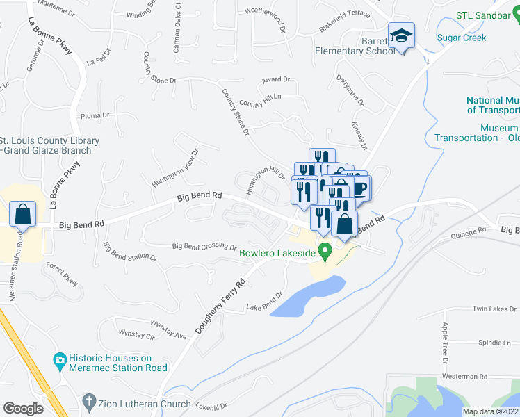 map of restaurants, bars, coffee shops, grocery stores, and more near 366 Autumn Creek Drive in Manchester