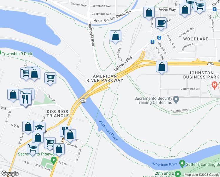 Northgate Blvd & Sacramento Northern Bike Trail, Sacramento ... on map of clinton river michigan, map of truckee river bike trail, map of oleta state park, map of sacramento neighborhoods, map of san gabriel river bike trail,