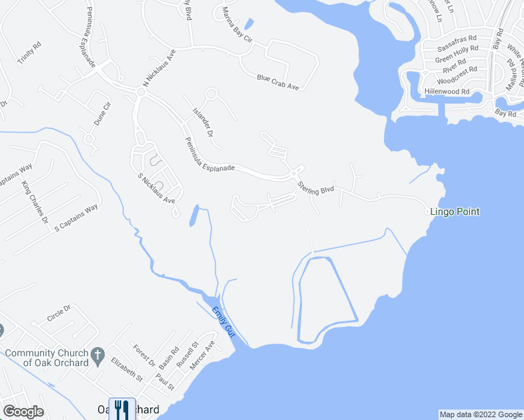 map of restaurants, bars, coffee shops, grocery stores, and more near 33579 Windswept Drive in Millsboro
