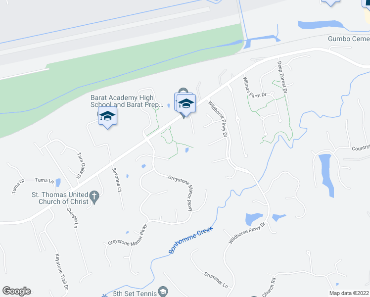 map of restaurants, bars, coffee shops, grocery stores, and more near 17800 Greyabbey Court in Chesterfield