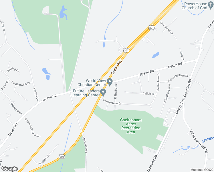 map of restaurants, bars, coffee shops, grocery stores, and more near 12750-12764 Blue Star Memorial Highway in Brandywine
