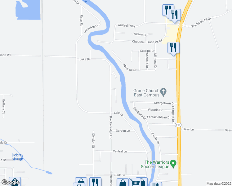 map of restaurants, bars, coffee shops, grocery stores, and more near 4514 Hannahs Drive in Pontoon Beach