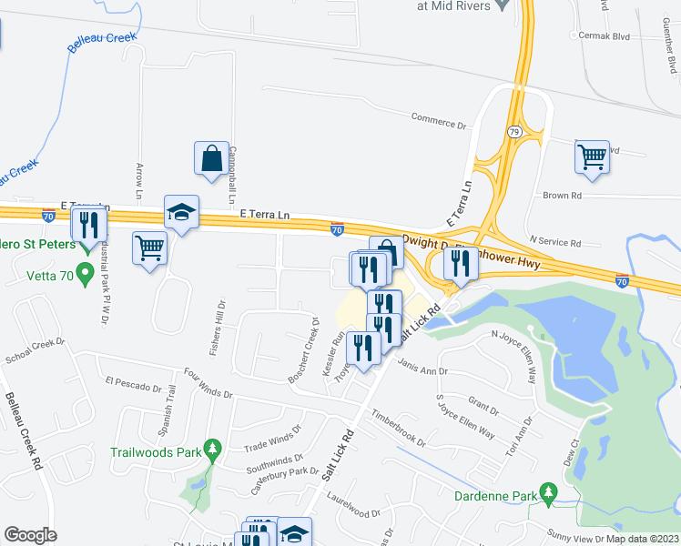 St Peters Missouri Map.800 Aventura Way St Peters Mo Walk Score