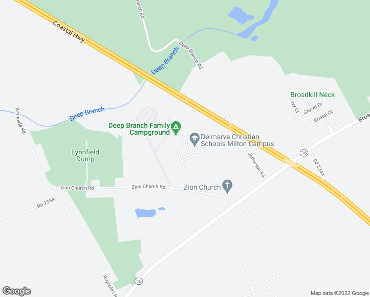 map of restaurants, bars, coffee shops, grocery stores, and more near 26633 Zion Church Road in Milton