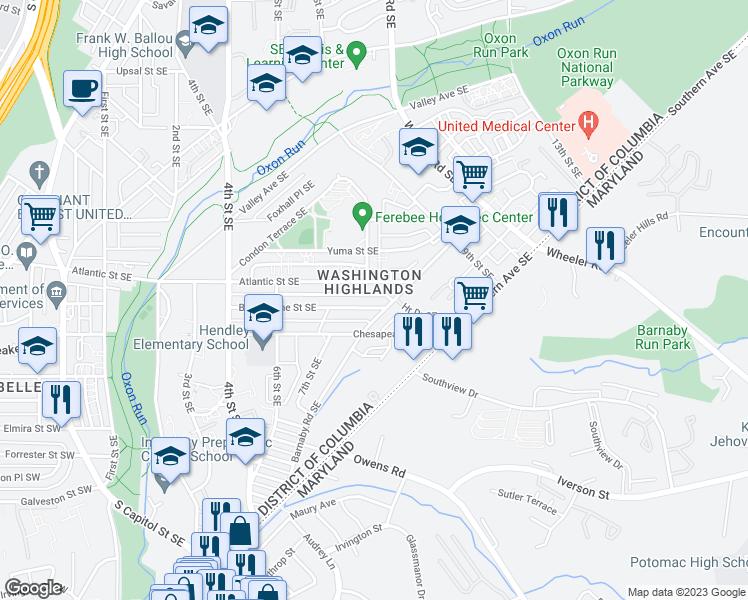 Se Dc Map.742 Brandywine Street Southeast Washington D C Dc Walk Score