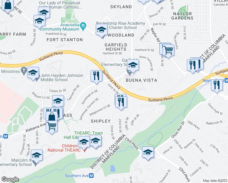 Se Dc Map.2225 Savannah Terrace Se Washington D C Dc Walk Score