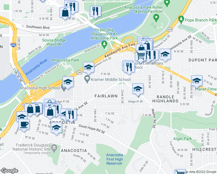 Se Dc Map.1900 Minnesota Avenue Southeast Washington D C Dc Walk Score