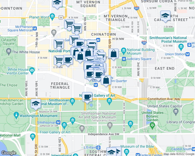 Map Of Restaurants Bars Coffee Shops Grocery Stores And More Near 700