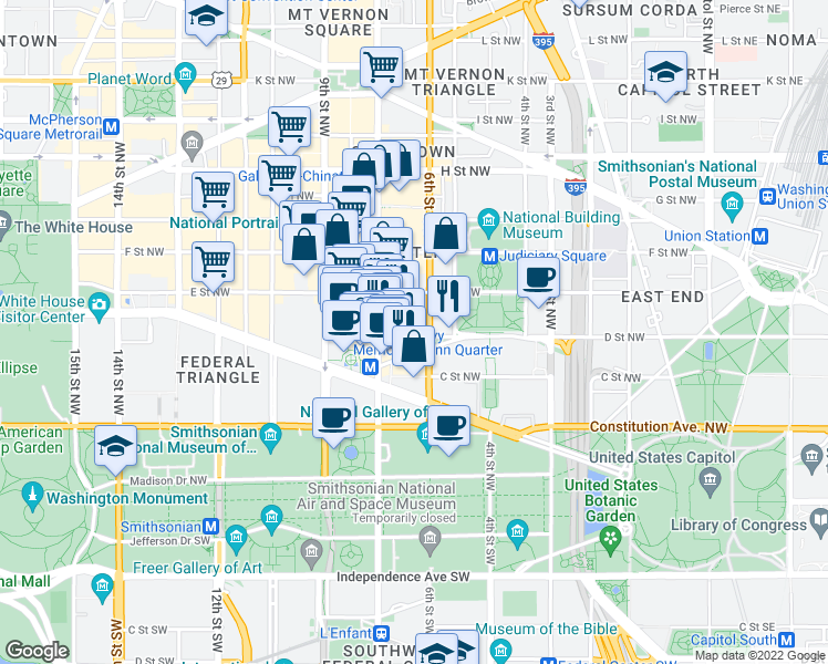 Map Of Restaurants Bars Coffee Shops Grocery Stores And More Near 631