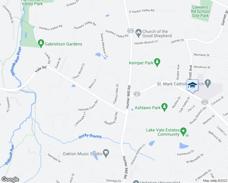 map of restaurants, bars, coffee shops, grocery stores, and more near 2490 Oakton Hills Drive in Oakton