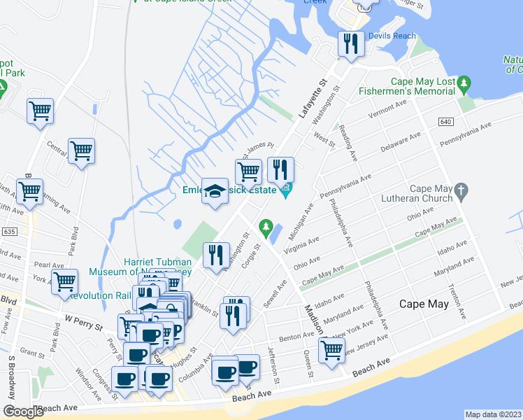 Cape May Nj Shopping Map Www Imagenesmi Com
