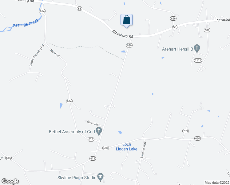 map of restaurants, bars, coffee shops, grocery stores, and more near Totten Lane in Warren County