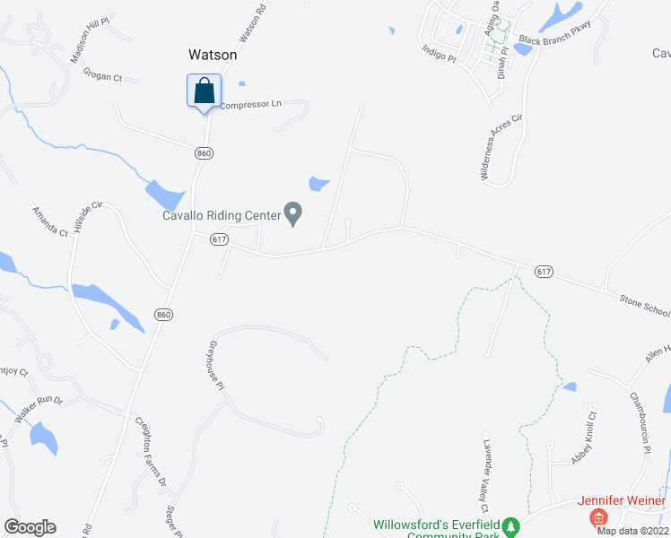 map of restaurants, bars, coffee shops, grocery stores, and more near 40837 Red Hill Road in Leesburg