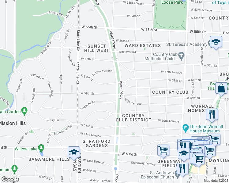 Find Restaurants Near Ward Parkway