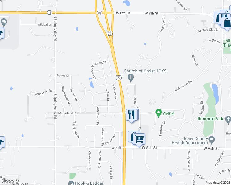 Junction City Kansas Map.238 South Kiowa Court Junction City Ks Walk Score