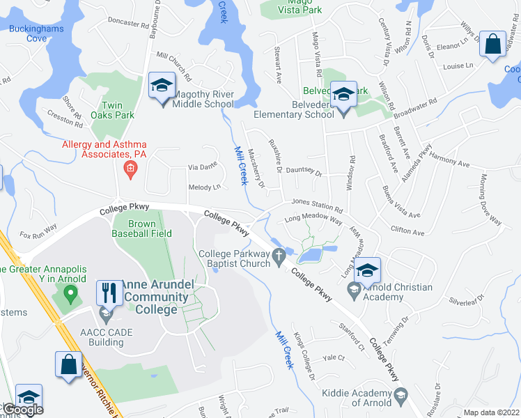 Aacc Main Campus Map.186 Campus Green Drive Arnold Md Walk Score