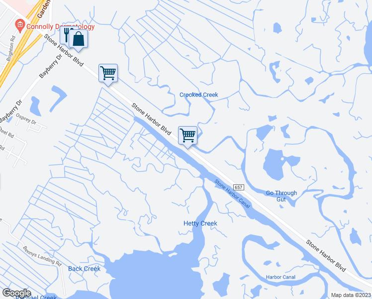 Stone Harbor Nj Elevation Map : Stone harbor boulevard cape may county nj walk score