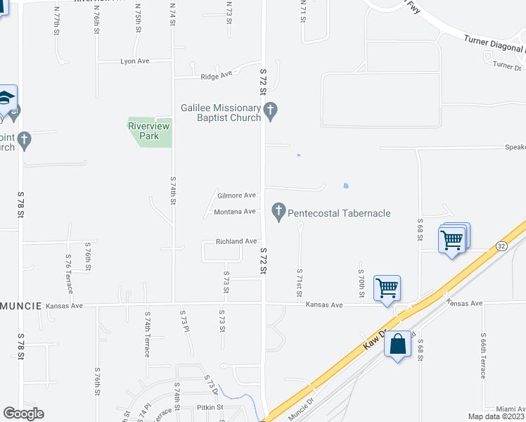S 72 St & Montana Ave, Kansas City KS - Walk Score Kansas S Map on maryland map, ohio s map, delaware map, utah s map,
