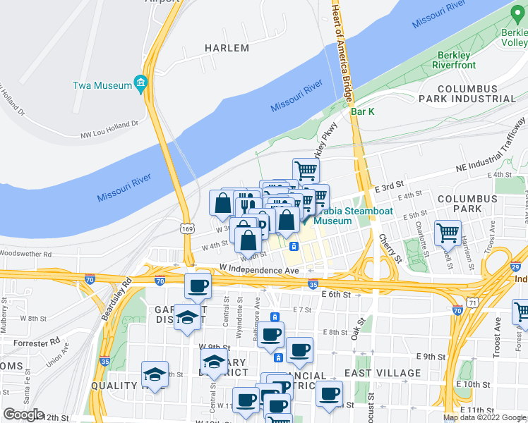 map of restaurants, bars, coffee shops, grocery stores, and more near 6 West 3