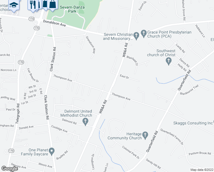 7910 WB&A Road, Severn MD - Walk Score Map Of Severn Md on