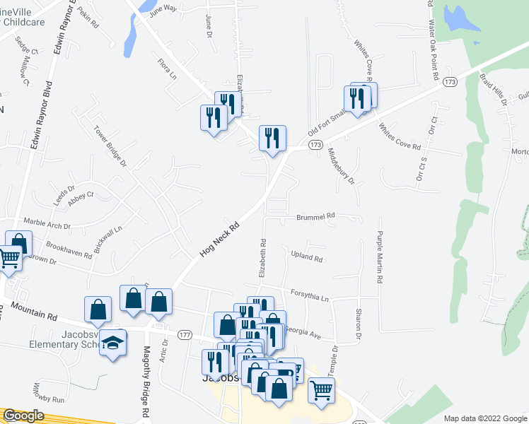 map of restaurants, bars, coffee shops, grocery stores, and more near 4103 Apple Leaf Court in Pasadena